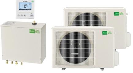 エコヌクールレオ  熱交換ユニット:VEH-712HCD-M(密閉式)  室外ユニット:VEH-406HPD-HL ×2台  リモコン:VEZ-01RCD