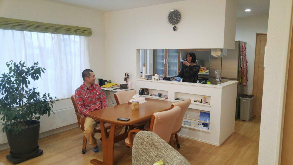 家全体が暖かく光熱費が安いので、友人に羨ましがられました。