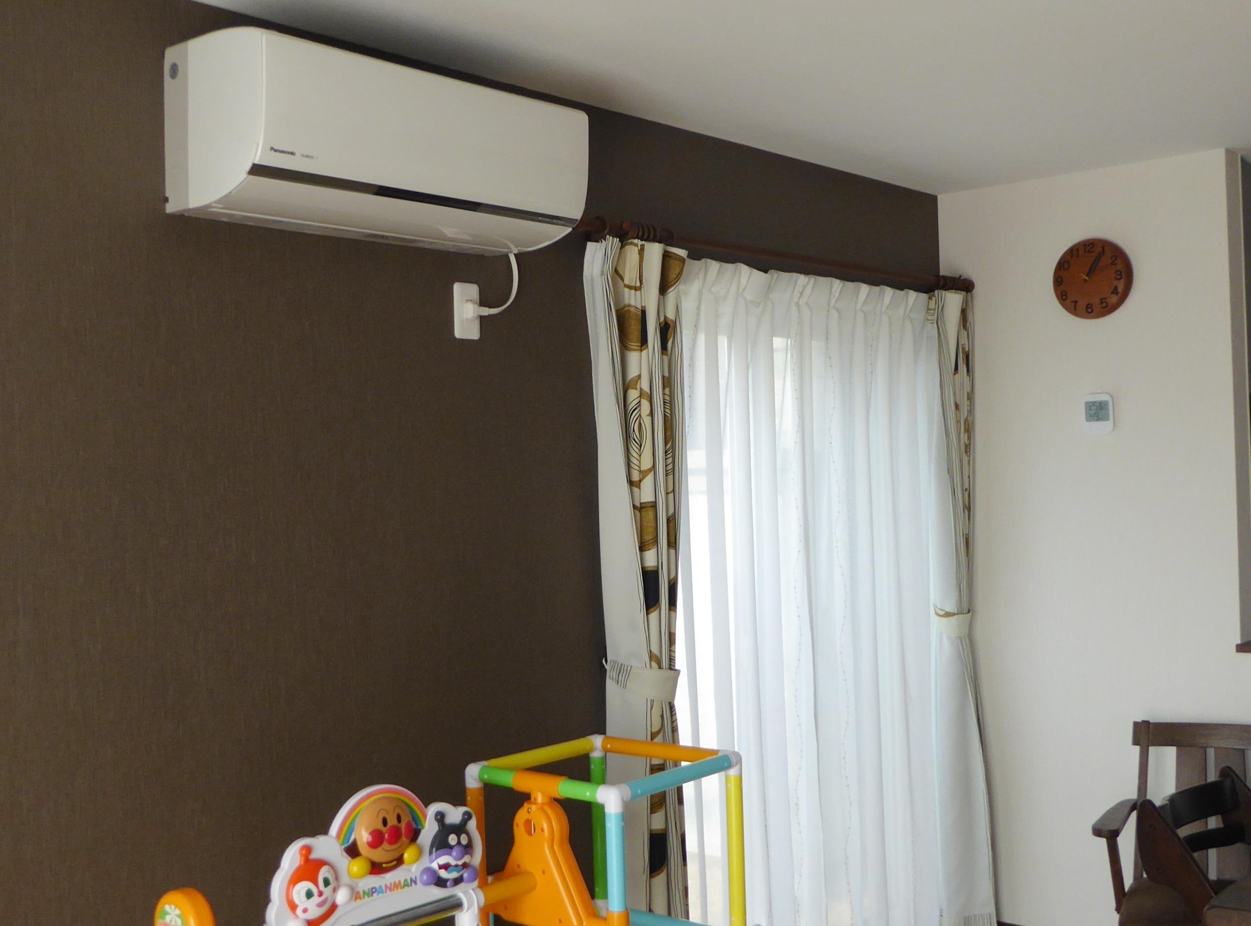 エアコンと床暖房で一年中快適